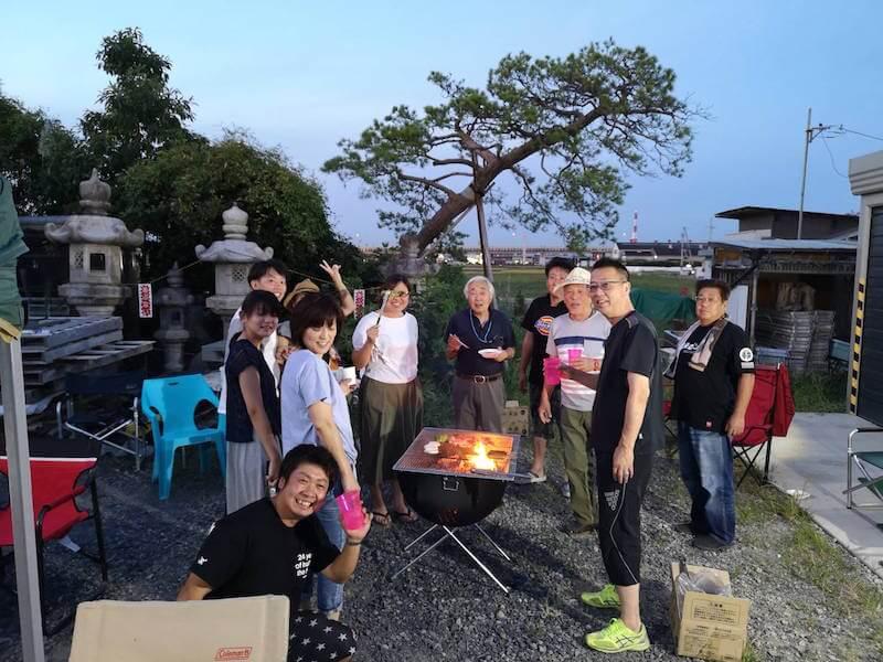 花火大会BBQの開催